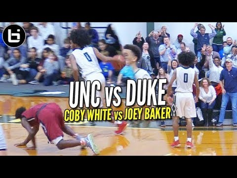 WHO GOT DROPPED?!? Coby White (UNC) BATTLES Joey Baker (DUKE) & Duo Combine for 64 points!