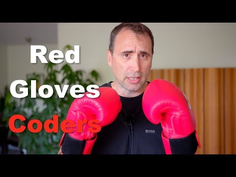 Hypster Programmers into Gloves: Red Gloves Coders