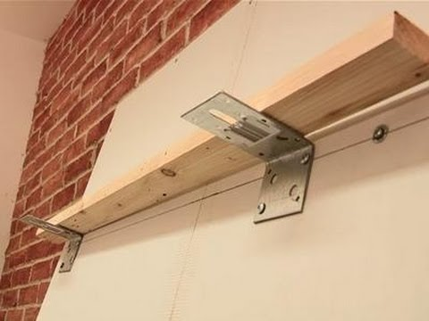 How To Attach Shelves To Drywall