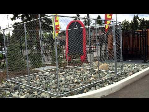 ALEKO® Dog Kennel DIY Box Kennel Chain Link Dog Pet System, Run for Chicken Coop, Hens House