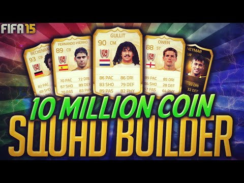 Fifa 15 Most Expensive 10 Million Coin Squad Builder Ultimate Team