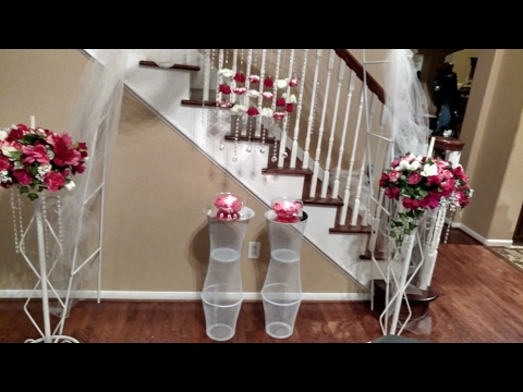 DIY Dollar Tree Wedding Pedestals