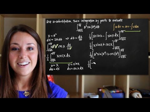 U-substitution with integration by parts (KristaKingMath)