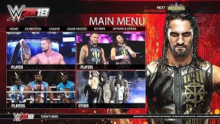 WWE 2K18 Demo - Nintendo Switch Main Menu, Roster & Graphics - Notion/Concept (HD)