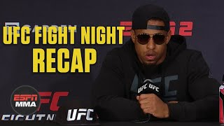 Greg Hardy speaks about no contest after using inhaler | UFC Fight Night | ESPN MMA