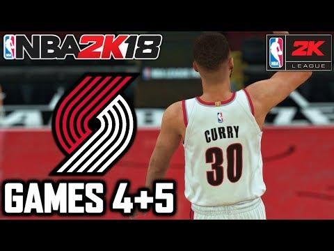 NBA 2K18 YouTuber Online MyLeague Playoffs - ROUND 1 GAMES 4 + 5 - WIN OR GO HOME!!!