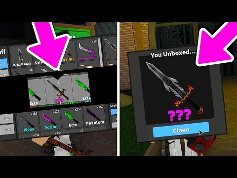 MOST CRAZIEST GODLY UNBOXING EVER! (Roblox Murder Mystery 2)