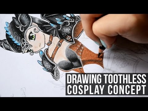Drawing Toothless Cosplay Concept