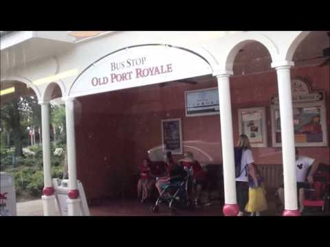 Disney Transport Bus Ride - Epcot to Caribbean Beach Resort