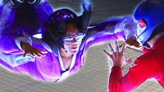 People Try Indoor Skydiving