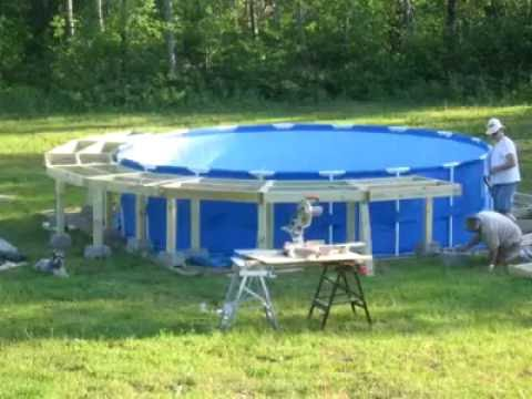 How to build a pool deck in 90 seconds.