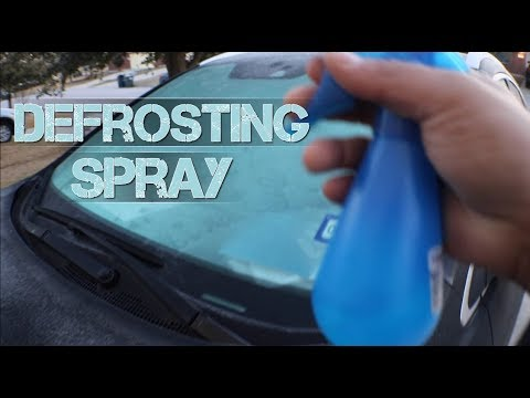 Life Hacks - Using Alcohol & Water Solution to Defrost Your Windshield