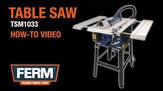 FERM Zaagtafel 1800W | Product & Instructievideo | TSM1033