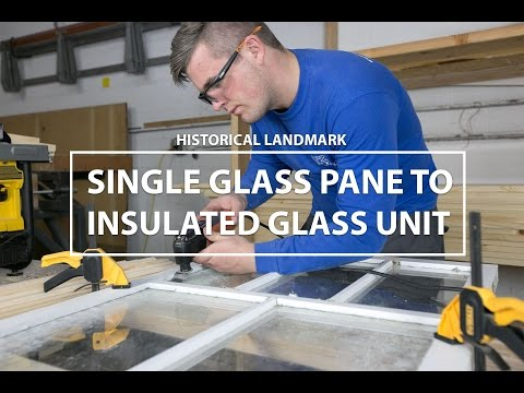 Single Pane to Insulated Glass Unit - Historical Landmark Window Restoration by Apex Window Werks