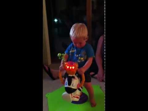 Eli playing at Nana's house