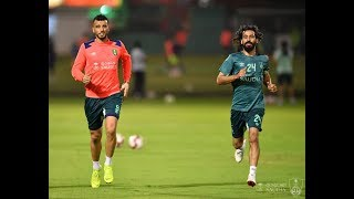 تدريبات الفريق الاول لكرة القدم بالنادي الاهلي _ الاحد 20 يناير 2019