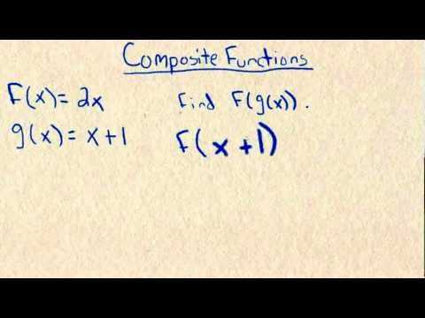 How to find Composite Functions f of g of x