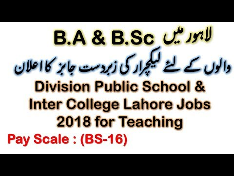 Lecturer Jobs in Lahore