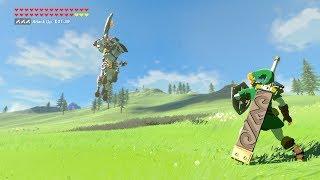 Zelda: BOTW (OoT Link VS Silver Lynel) OoT Weapons Only - getplaypk