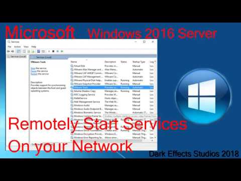 Remotely Start Services on Windows network using powershell (Servers and Workstations)