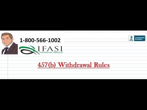 457 b Withdrawal Rules