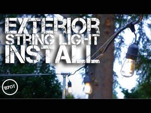 EXTERIOR STRING LIGHT INSTALL