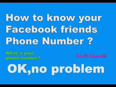 How To Find Facebook Friends Phone Number