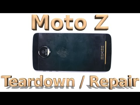 Moto Z Teardown - Screen Repair - Battery Replacement