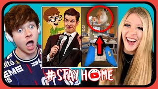 YouTubers React To 5 Amazing Things People Are Doing In Quarantine (Big Mouth, Indoor Parkour)