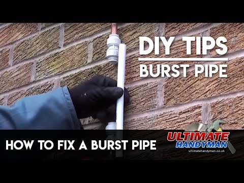 How to fix a burst pipe