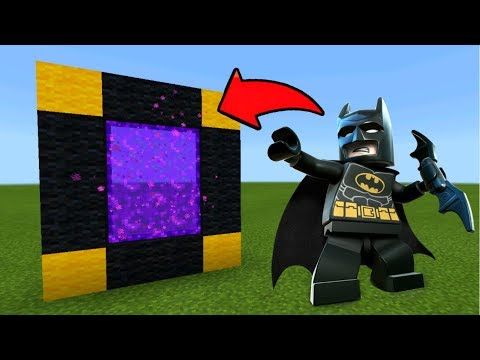 Minecraft Pe How To Make a Portal To The Lego Batman Dimension - Mcpe Portal To The Lego Batman!!!