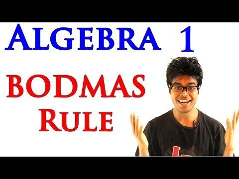 Algebra 1 Lessons 1.12 - Examples of BODMAS Rule