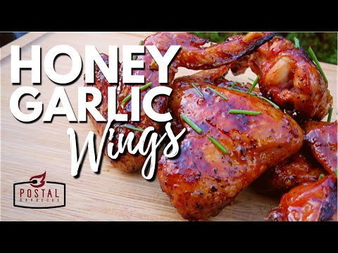 Honey Garlic Chicken Wings - How To Make Honey Garlic Chicken Wings on the Grill Easy