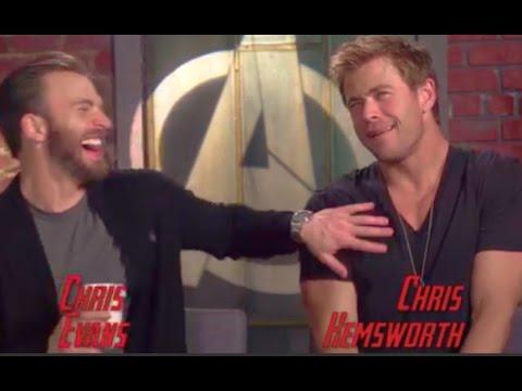 Chris Evans Chris Hemsworth Funny Moments 2015