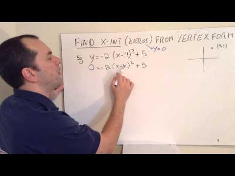 Finding Zeros from Vertex Form