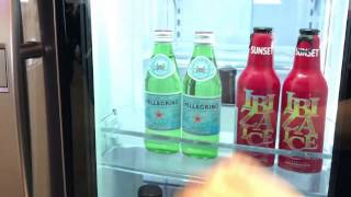 Look inside LG's new InstaView fridge by knocking on the door