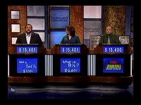 Jeopardy - First tiebreak question ever!
