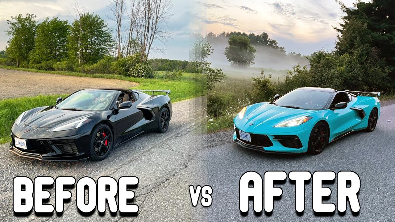 BEFORE VS AFTER MY C8 CORVETTE TRANSFORMATION