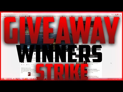 14K Give Away Winners + STRIKE!!!