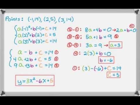 Quadratic Through Three Points