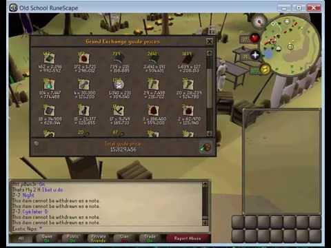 Loot from 1k Wyverns - Runescape 2007