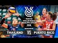 Thailand Vs Puerto Rico Highlights Womens Volleyball Olympic Qualifying Tournament 2019