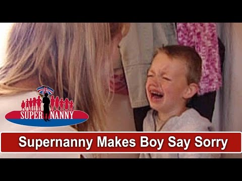 Supernanny Makes Boy Say Sorry For 15 Minutes! | Supernanny