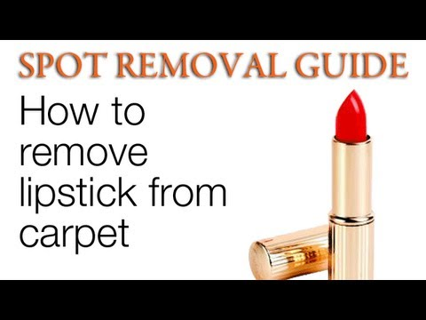 How to Remove Lipstick from Carpet | Spot Removal Guide