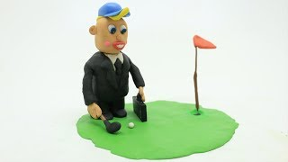 The Boss Baby Funny Golf Play Doh Stop Motion Animation Videos