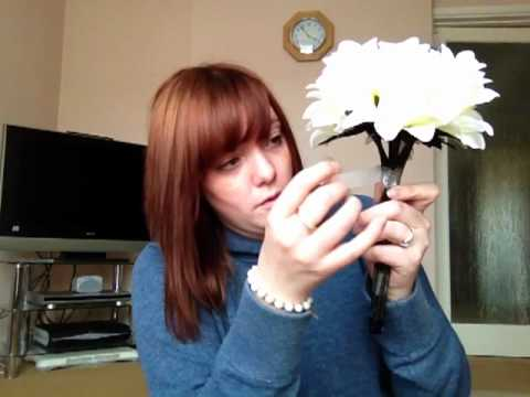 How to make your own silk bridal and bridesmaid flowers part 2