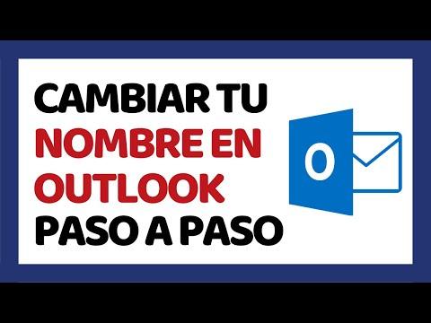 Cómo Cambiar el Nombre en Outlook 2018 (Hotmail) | Cómo Usar Outlook 2018