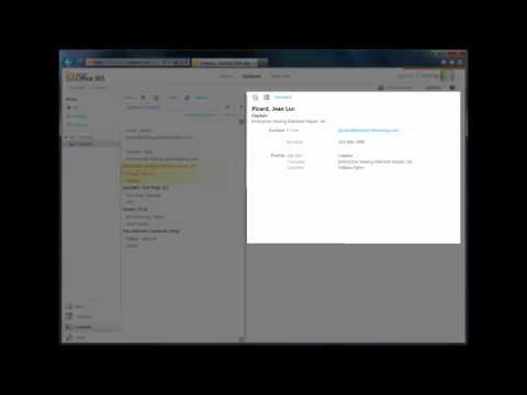 Office 365 Tutorial 5 - Contacts in OWA