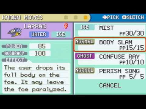 Where to Get Lapras in Pokemon firered and Leafgreen