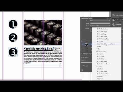 InDesign Interactive Buttons for PDF, Flash and DPS
